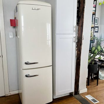 white fridge with recognition to @holisticrendezvous