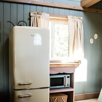 iio Retro fridge inside kitchen