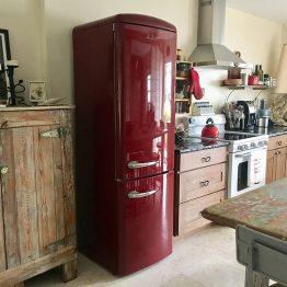 wine red refrigerator