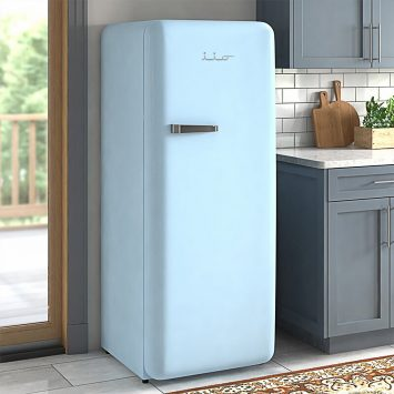 sky blue fridge